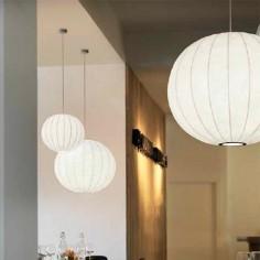 Lámpara colgante serie Sumo en color blanco