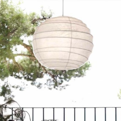 Lámpara colgante serie Pekín en blanco