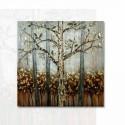 Cuadro sobre madera con pintura metalizada
