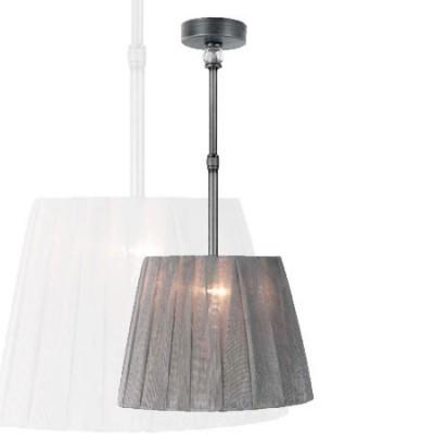 Lámpara colgante con pantalla trapecio