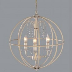 Lámpara de techo esfera modelo Gea color blanco