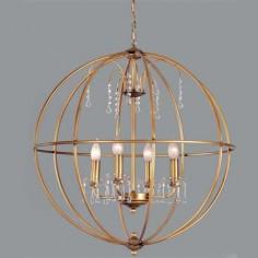 Lámpara colgante esférica modelo Gea color anticuario