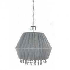 Lámpara de techo Elma con pantalla textil color acacia con detalles cristal