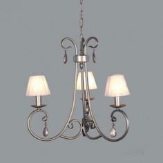 Lámpara de techo clásica Carisma color plata tres luces
