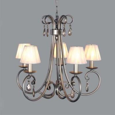 Lámpara estilo clásico Carisma 5 brazos color plata