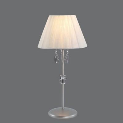Lámpara de sobremesa Denis tono plata con lágrimas transparentes