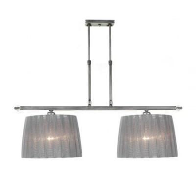 Lámpara de techo Bellanca dos luces acabado en plata francesa con altura ajustable