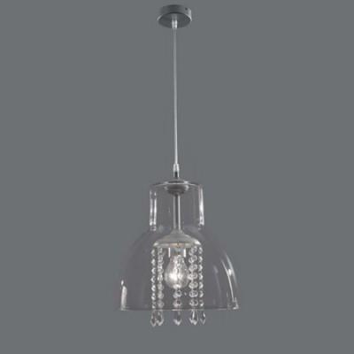 Lámpara colgante Alcina cristal con abalorios