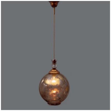 esfera cristal Lámpara Demetrius en viejo de oro techo difuminado DYHIE2W9