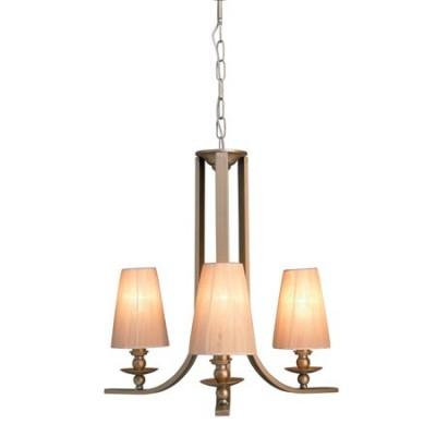 Lámpara de techo Angelo tres luces acabado en plata envejecida pantallas altas