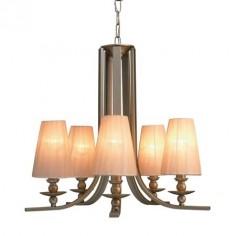 Lámpara de techo cinco brazos Angelo con acabado en plata envejecida