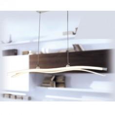 Lámpara de techo lineal LED líneas curvas en blanco