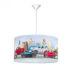 Lámpara de techo infantil pantalla con motivo Coches