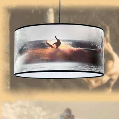 Lámpara colgante moderna pantalla con motivo Deporte