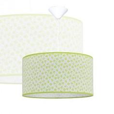 Lámpara colgante infantil Honey pantalla textil motivo abejas