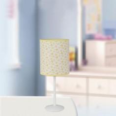 Lámpara de sobremesa infantil Honey pantalla cilíndrica motivo abejas