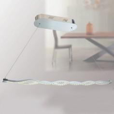 Lámpara lineal LED de diseño moderno con ondas acabado en cromo