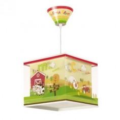 Lámpara colgante infantil My little farm con estampado granja