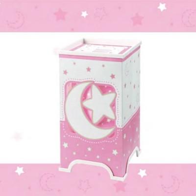 Lámpara de sobremesa diseño infantil Moon Light en rosa