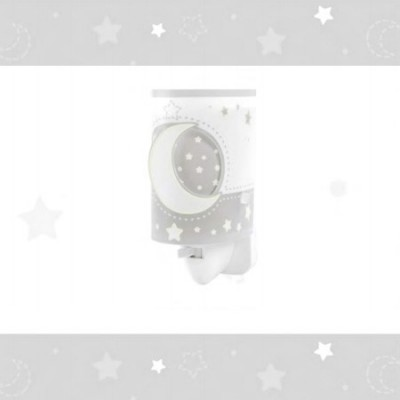 Luz nocturna infantil Moon Light color gris