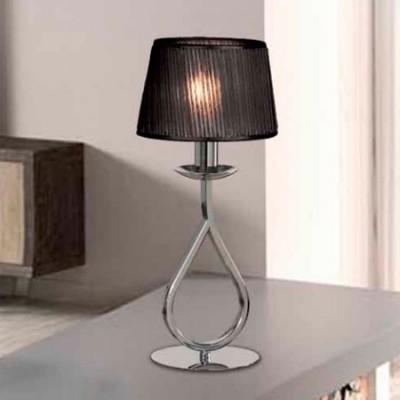 Lámpara de mesa metal con acabado cromo