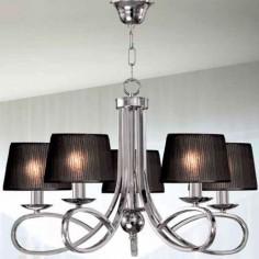 Lámpara de techo moderna en cromo