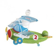 Colgante infantil Baby planes forma de avión en verde