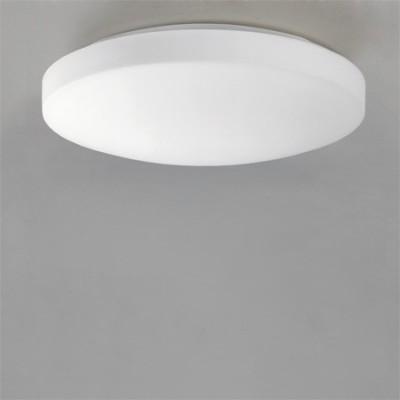Plafón LED circular modelo Moon acabado en blanco