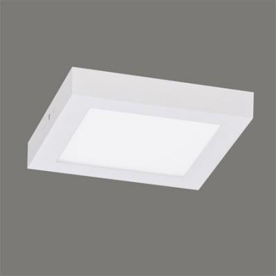Plafón de línea técnica LED Sky Box cuadrado color blanco