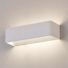Aplique LED rectangular modelo Icon acabado blanco texturado