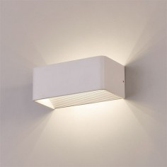 Aplique LED Icon rectangular acabado blanco texturado