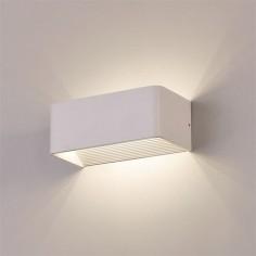 Aplique LED Icon rectangular acabado blanco texturado