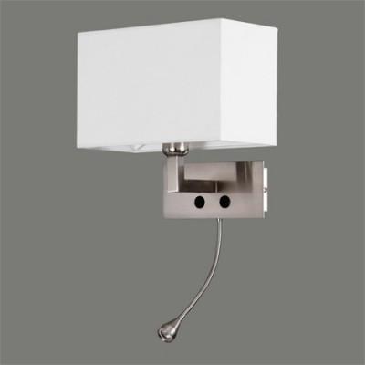Aplique LED Benet dos luces acabado níquel satinado