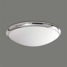 Plafón de techo para baño Esus redondo acabado en opal y cromo