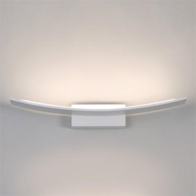 Aplique LED Pluma forma curva y acabado en blanco