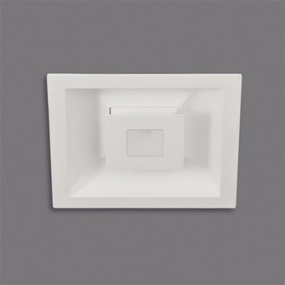 Downlight LED Rexa cuadrado acabado blanco texturado