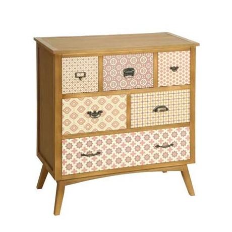 Comprar c moda vintage artemisa en madera con seis cajones for Artemis muebles