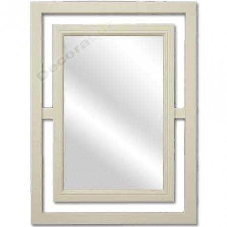 Espejo decorativo color blanco roto de estilo moderno madera - Color blanco roto ...