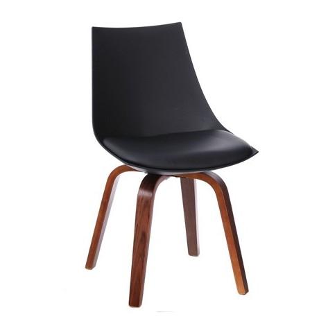 Comprar silla negra estilo n rdico s mil piel - Silla nordica negra ...