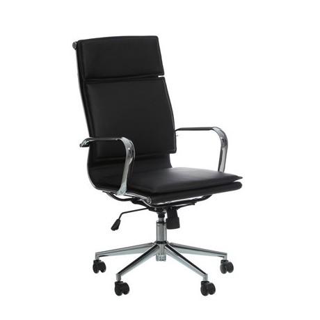 Comprar silla para oficina con ruedas en color negro for Sillas de oficina con ruedas