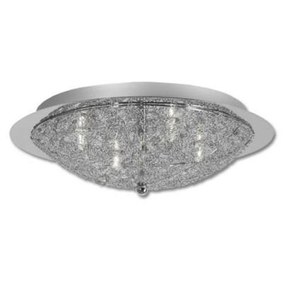 Plafón de 4 luces modelo circular fabricado en metal cromo