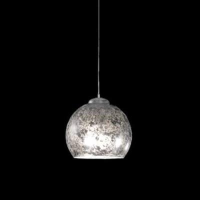 Lámpara bola Decó cristal acabado en pan de plata