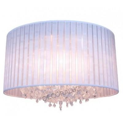 Colgante moderno con cristales basilea color blanco