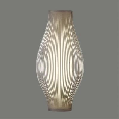 Lámpara sobremesa Murta con tiras en color piedra