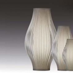Lámpara sobremesa Murta en color piedra