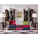 Sofá chester tres plazas tapizado de colores