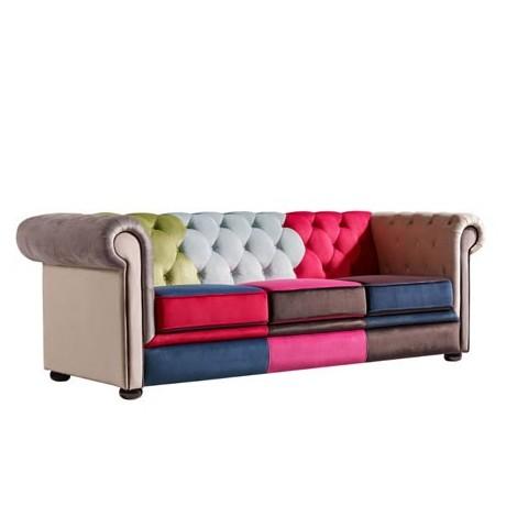 Comprar sof chester tres plazas tapizado de colores for Sofa exterior tres plazas
