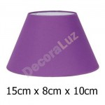Pantalla para lámpara cónica color cardenal tejido Cotonet 15 cm