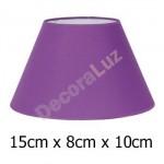 Pantalla para lámpara en lila cónica tejido Cotonet 15 cm