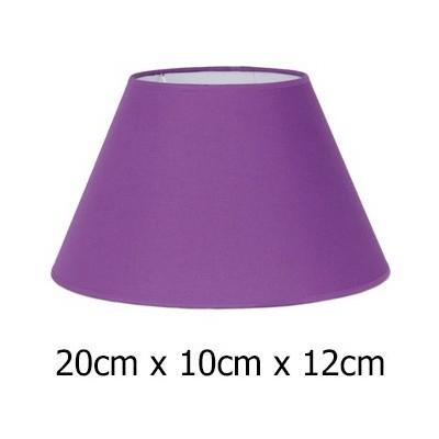 Pantalla lámpara morada Cotonet con forma cónica 20 cm